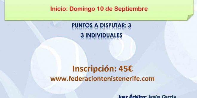 Campeonato por Equipos Benjamín Masculino – CALENDARIO Y EQUIPOS