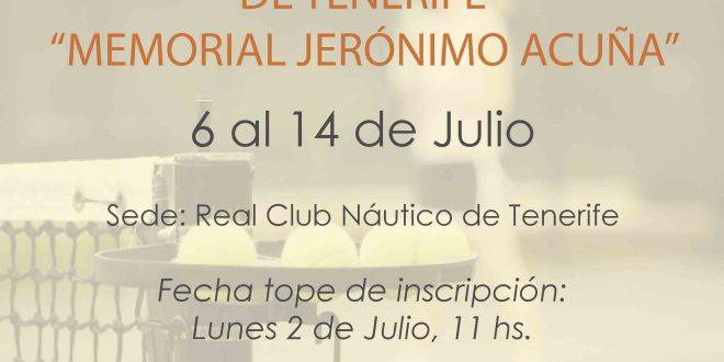 """Campeonato de Tenerife Benjamín """"Memorial Jerónimo Acuña"""""""