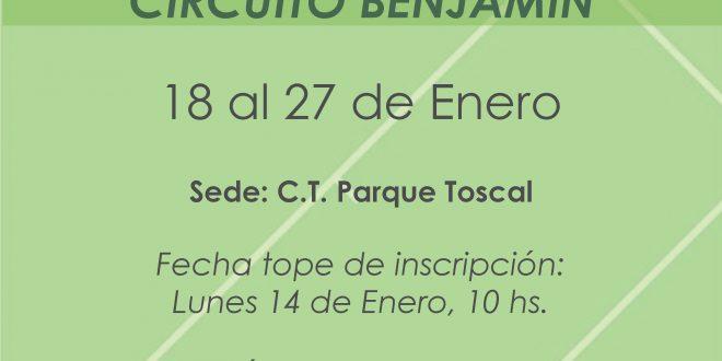 1º Torneo XIII Circuito Benjamín – CUADROS