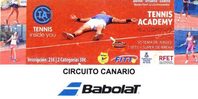 Circuito Babolat – Canarias Tennis Academy – Cuadros y Horarios