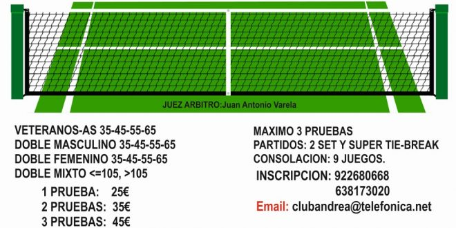 XXVII Metesa – C.D. Andrea – Cambio de Fechas: del 16/9 al 12/10