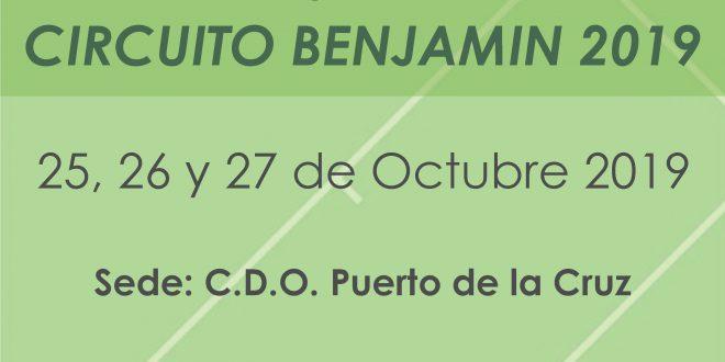 Master XIII Circuito Benjamín – CUADROS y HORARIOS