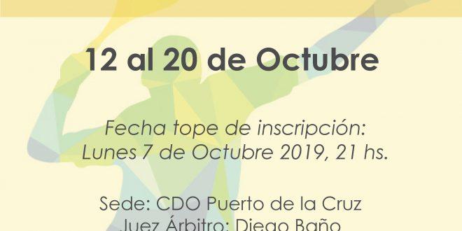 Campeonato Veteranos de Tenerife 2019 – CUADROS y HORARIOS