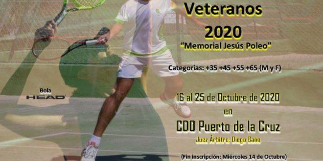 Campeonato Veteranos de Tenerife 2020 «Memorial Jesús Poleo» – CUADROS