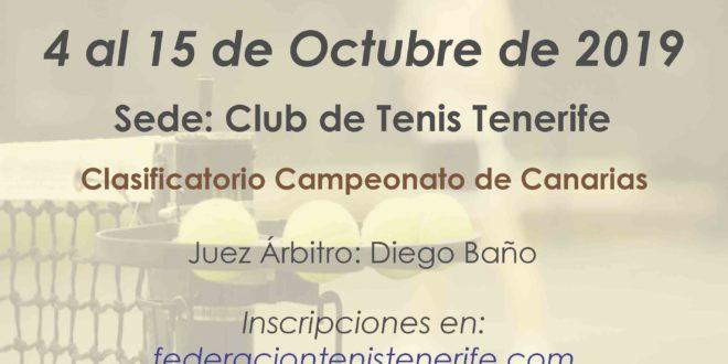 Campeonato Absoluto de Tenerife 2020 – Comienza 4 de Octubre