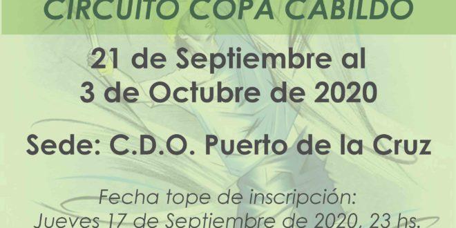 3º Torneo XXVI Circuito Copa Cabildo – Cuadros y Horarios