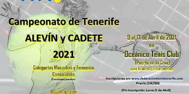 Campeonato de Tenerife Alevín y Cadete – CUADROS