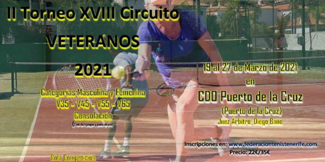 2º Torneo XVIII Circuito Veteranos