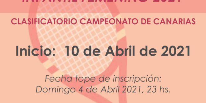 Campeonato por Equipos Infantil Femenino – CALENDARIO