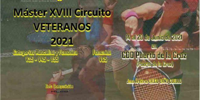 Master 3º Torneo XVIII Circuito Veteranos – CLASIFICADOS CONFIRMAR ANTES DEL VIERNES 11 DE JUNIO