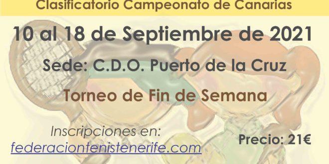 Campeonato de Tenerife Benjamín – LISTA DE INSCRITOS
