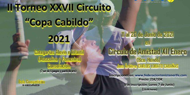2º Torneo XXVII Circuito Copa Cabildo – CUADROS y HORARIOS